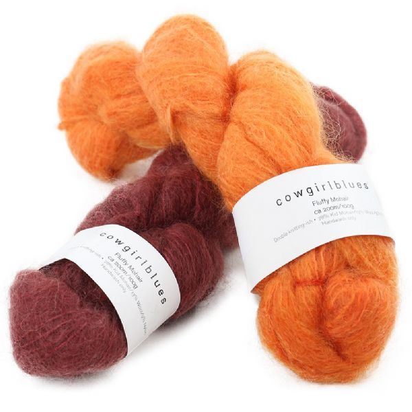 Fluffy Mohair Semi Solids - 100g